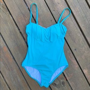 Laundry by Shelli Segal Teal One Piece Size Sm